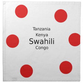 Swahili Language (Kenya, Tanzania, And The Congo) Napkin