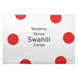Swahili Language (Kenya, Tanzania, And The Congo) Placemat
