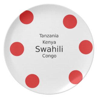 Swahili Language (Kenya, Tanzania, And The Congo) Plate