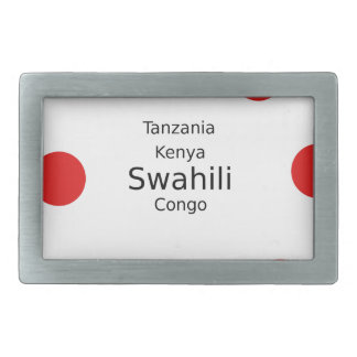 Swahili Language (Kenya, Tanzania, And The Congo) Rectangular Belt Buckles
