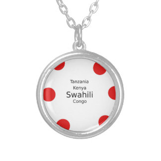 Swahili Language (Kenya, Tanzania, And The Congo) Silver Plated Necklace
