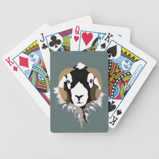 SWaledale sheep head Bicycle Playing Cards