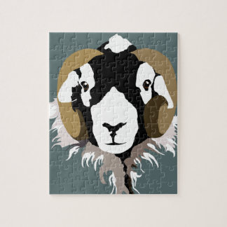 SWaledale sheep head Jigsaw Puzzle