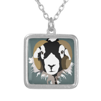 Swaledale Sheep Silver Plated Necklace