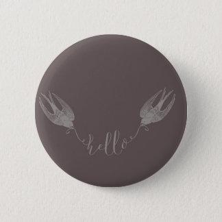 Swallow 6 Cm Round Badge