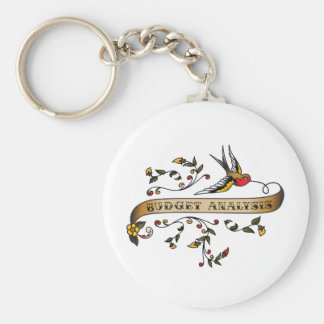 Swallow and Scroll with Budget Analysis Keychains