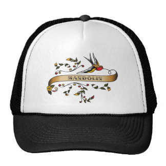 Swallow and Scroll with Mandolin Trucker Hat