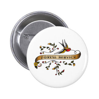 Swallow and Scroll with Postal Service Pinback Button