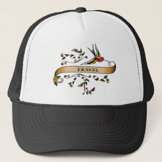 Swallow and Scroll with Travel Trucker Hat