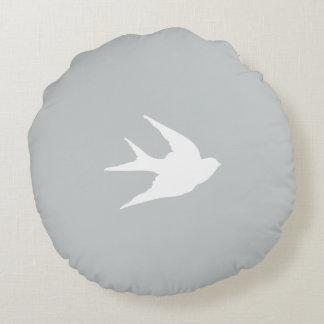 swallow bird silhouette // grey // cushion