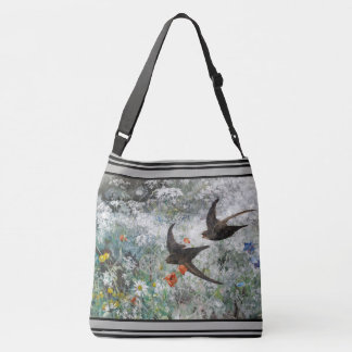 Swallow Birds Wildflower Flowers Tote Bag