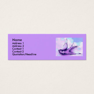 swallow by night mini business card