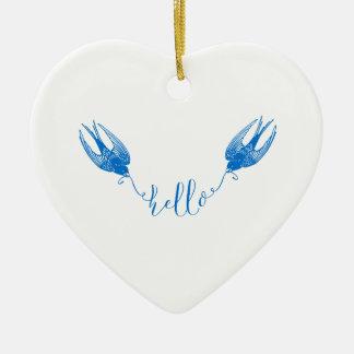 Swallow Ceramic Ornament