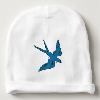 Swallow Flying Down Drawing Baby Beanie
