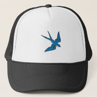 Swallow Flying Down Drawing Cap