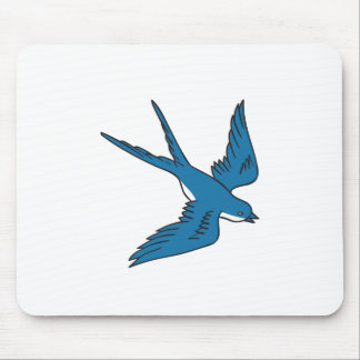 Swallow Flying Down Drawing Mouse Pad