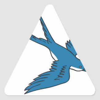 Swallow Flying Down Drawing Triangle Sticker