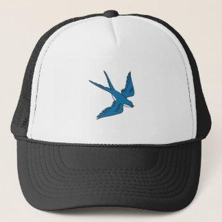 Swallow Flying Down Drawing Trucker Hat