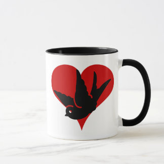 Swallow Heart Ginger and Tonic Rockabilly Tatto Ar Mug
