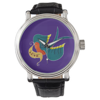 Swallow in Love Wrist Watches