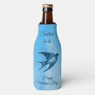 Swallow la-la naughty Valentine's Day Bottle Cooler