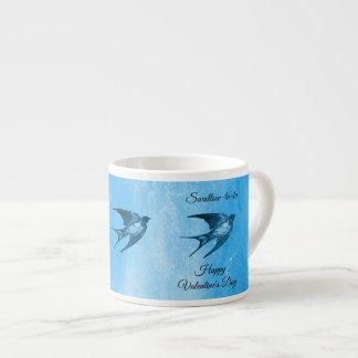 Swallow la-la naughty Valentine's Day Espresso Cup