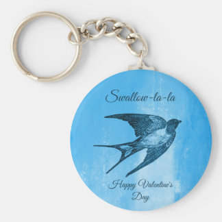 Swallow la-la naughty Valentine's Day Key Ring