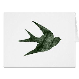 Swallow (Letterpress Style) Card