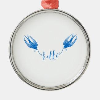 Swallow Metal Ornament