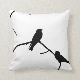 Swallow or Swifts Silhouette Love Bird Watching Cushion