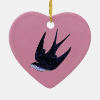 swallow paper cut (free) ceramic ornament