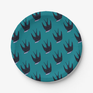 swallow paper cut (free) paper plate