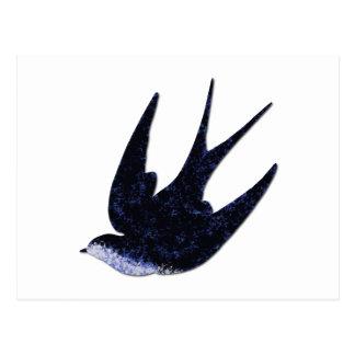 swallow paper cut (free) postcard