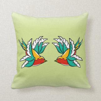 Swallow Sailors Tattoo Cushion