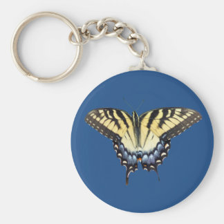 Swallow Tail Butterfly Basic Round Button Key Ring