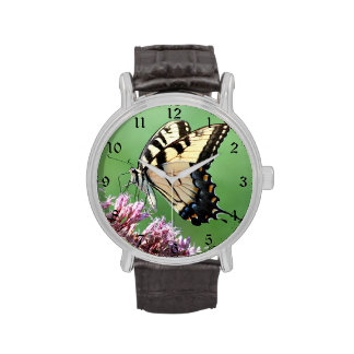 Swallow tail butterfly wristwatch