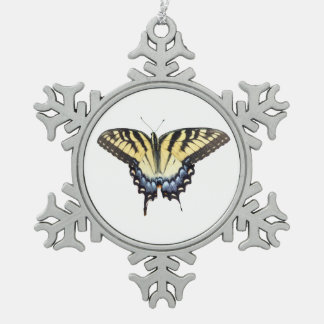 Swallow Tail Butterfly Pewter Snowflake Decoration