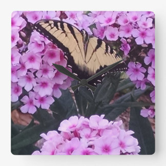 Swallow Tail & Phlox Wall Clock