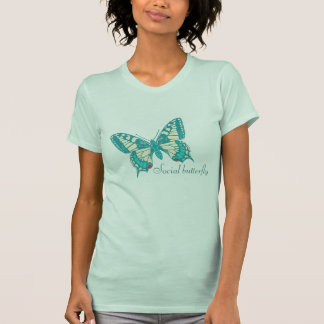 Swallow-tail social butterfly inked t-shirt