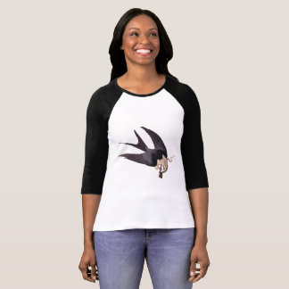 Swallow Tailed Hawk with Snake Vintage Audubon T-Shirt