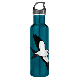 Swallow-tailed Kite in flight 710 Ml Water Bottle