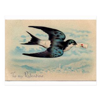 Swallow Valentine Postcard