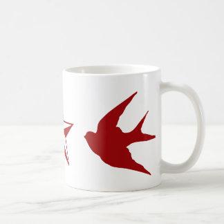 Swallows and Stars Coffee Mug