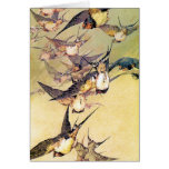 Swallows Greeting Cards