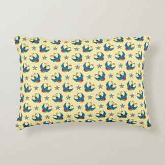 Swallows & Nautical Stars Decorative Cushion