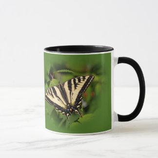 Swallowtail Butterflies on the Fuchsia Mug