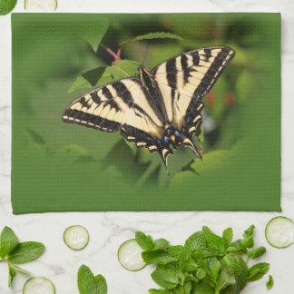 Swallowtail Butterflies on the Fuchsia Tea Towel
