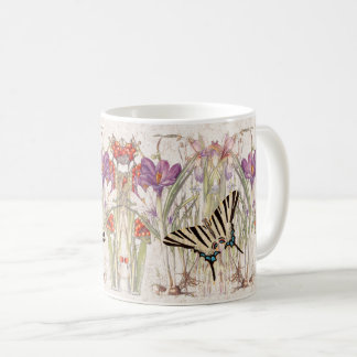 Swallowtail Butterfly Crocus Iris Flower Mug