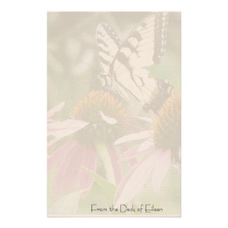 Swallowtail Butterfly Flower Floral Wildlife Custom Stationery
