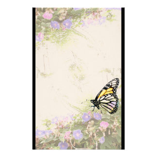 Swallowtail Butterfly Flower Floral Wildlife Personalised Stationery